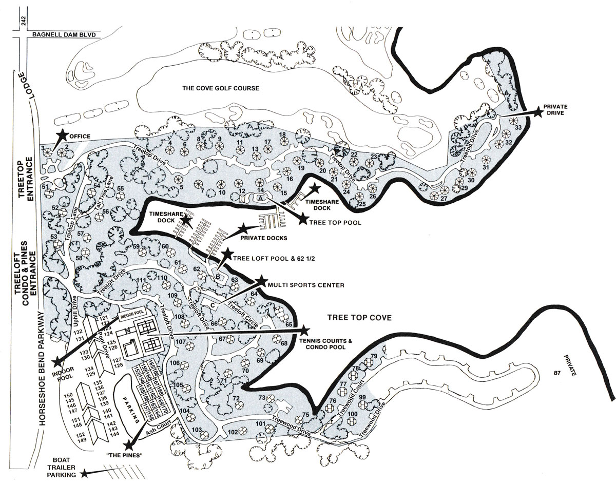 Treetop Village Unit Map