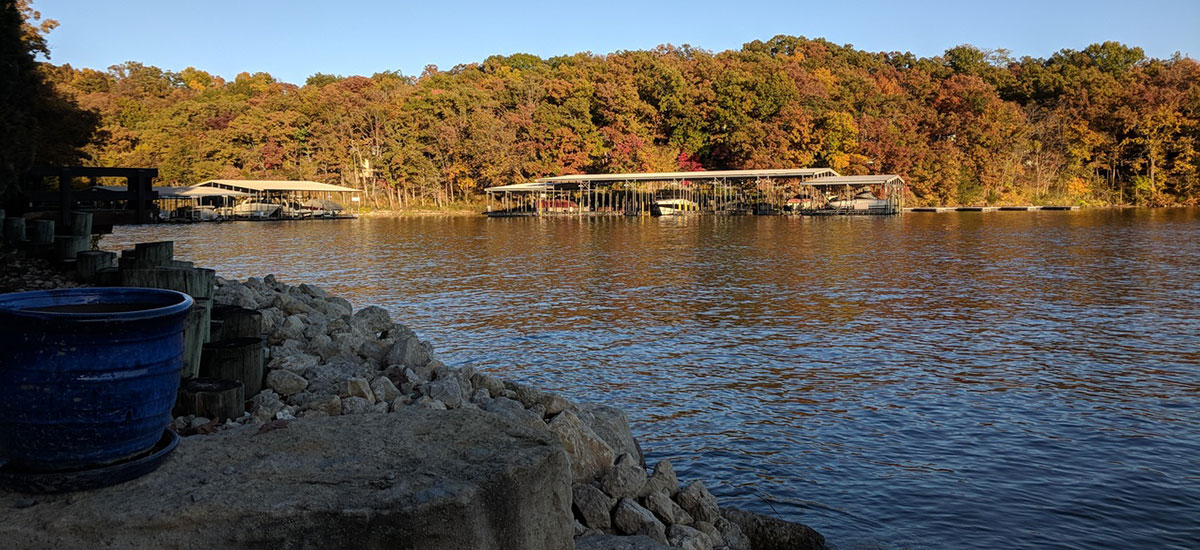 Dock View Treetop Village Lake Ozark
